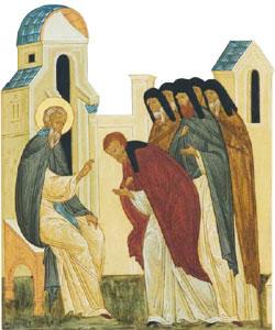 Преподобный Ферапонт наставляет братию